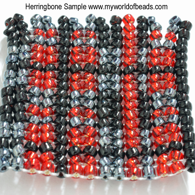 Herringbone Stitch - My World of Beads