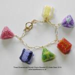 3D Peyote Charm Bracelet