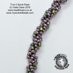 Beaded Spiral Rope variations