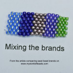 Seed bead sizes and brands