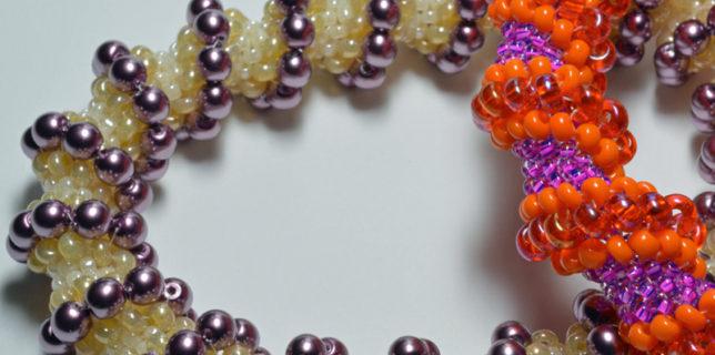 Starting Tubular Peyote, Cellini spiral bangles, Katie Dean, Beadflowers. How to learn Peyote stitch, My World of Beads