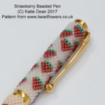 Summer Beading Projects: strawberry pen