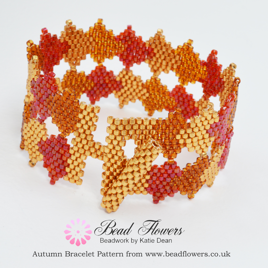 Fall Beading, Autumn Leaves Bracelet, Katie Dean