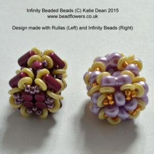 Rulla seed beads beaded bead, Katie Dean