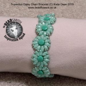 Pellet Beads, Daisy Chain Bracelet Pattern, Katie Dean