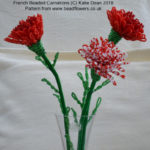 French Beaded Carnation