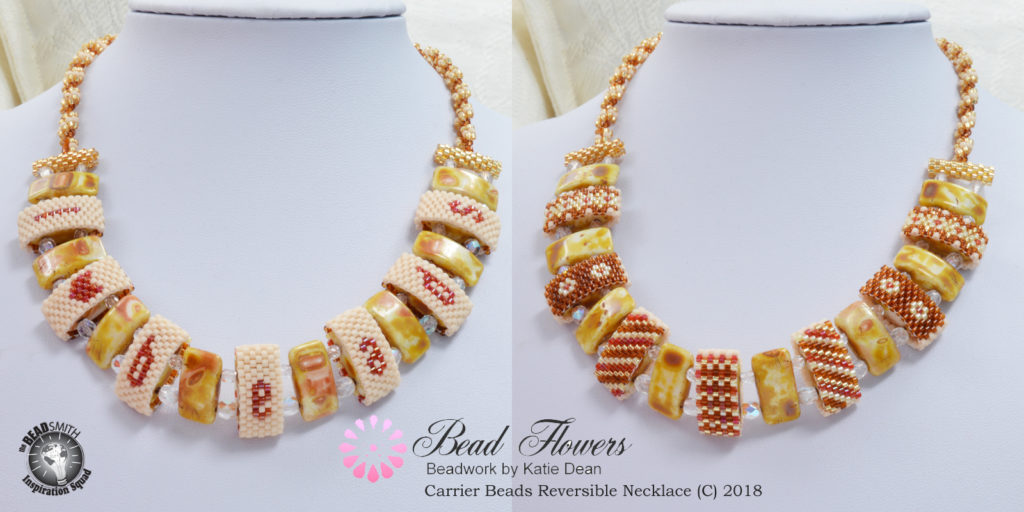 which bead colours work together? Carrier Bead Necklace by Katie Dean, Beadflowers