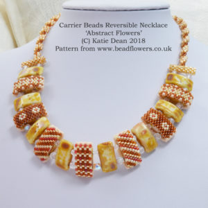 Carrier Beads Reversible Necklace, Katie Dean, Beadflowers