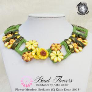 Carrier beads design, flower meadow necklace, Katie Dean, My World of Beads
