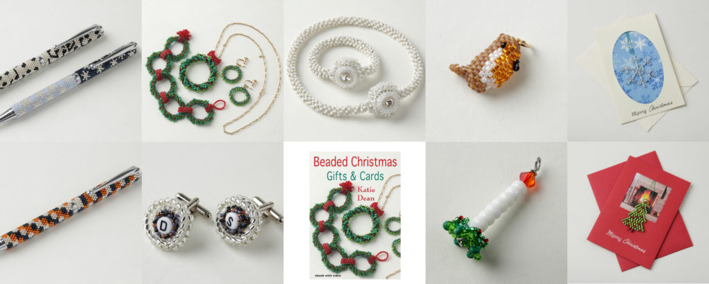 Beaded Christmas Ornament Pattern Books, Katie Dean, Beadflowers