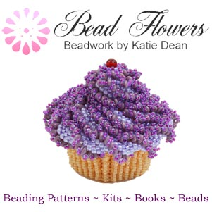Beadflowers, beadwork by Katie Dean