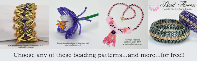 Five pounds off any beading pattern from Katie Dean