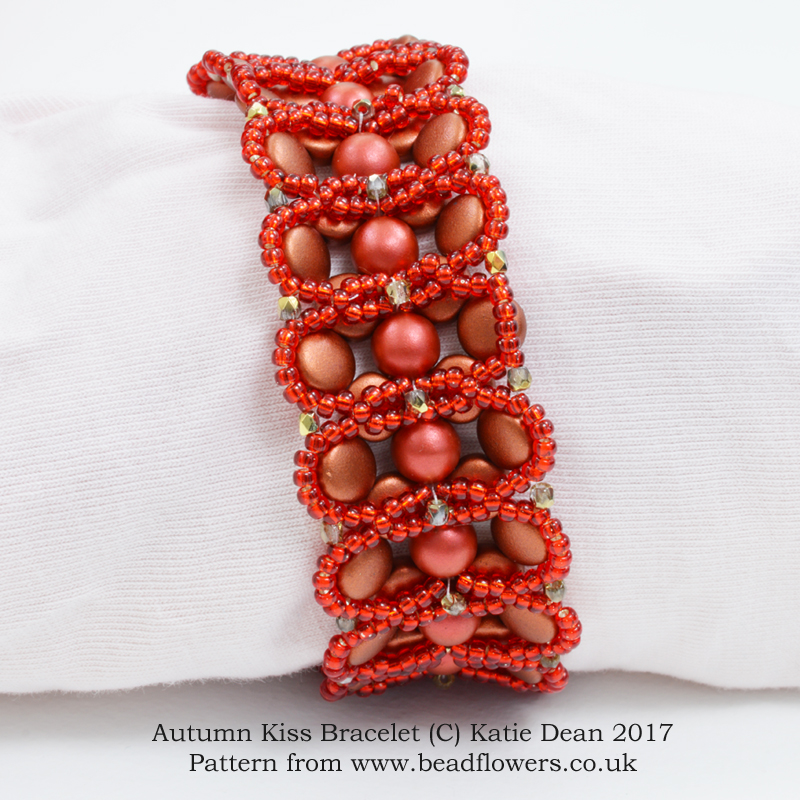 Autumn Kiss Bracelet patter, Katie Dean, Beadflowers