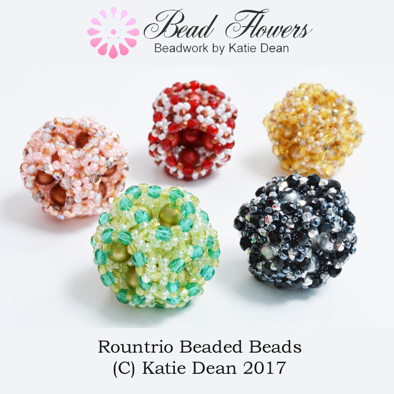 RounTrio Beaded Beads pattern, Katie Dean