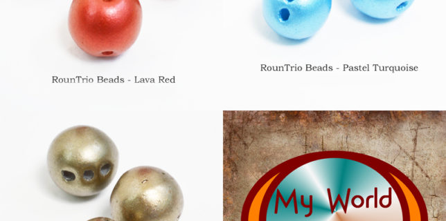 RounTrio beads: description, how to use them, where to buy them, Katie Dean, My World of Beads