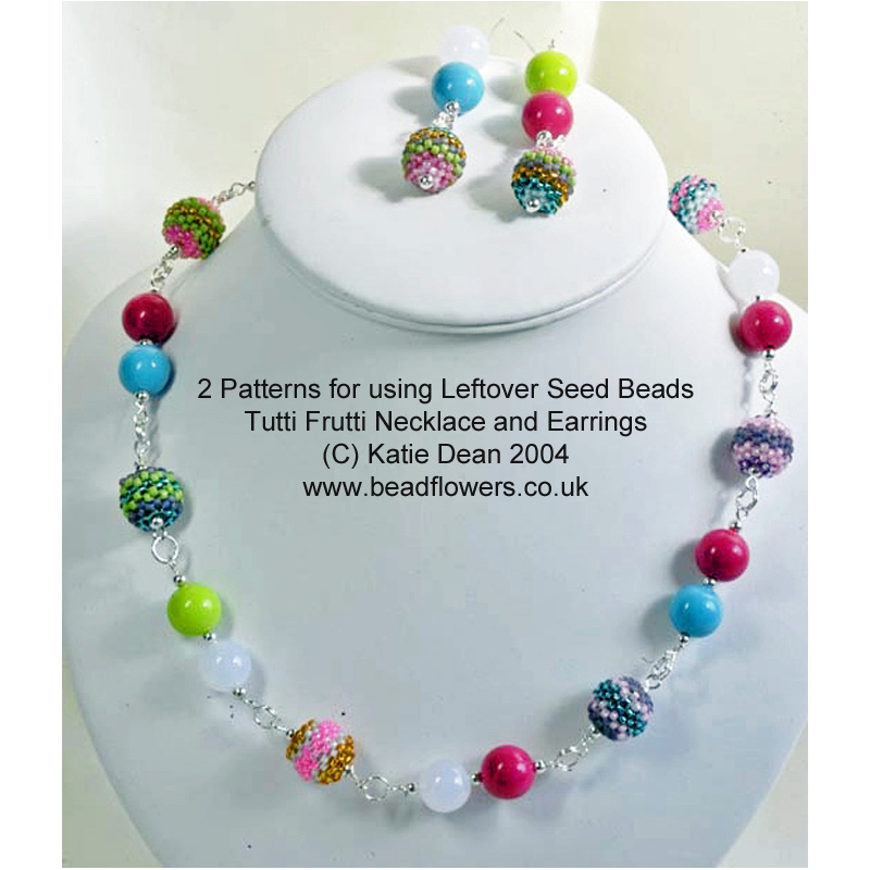 Two patterns for using leftover seed beads, Katie Dean, Stash busting beading projects