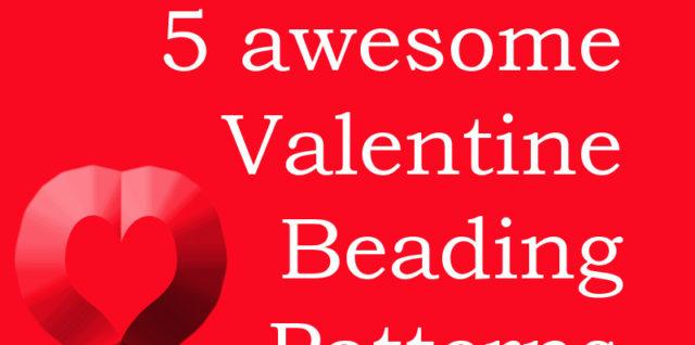 Valentine beading patterns, Katie Dean, My World of Beads