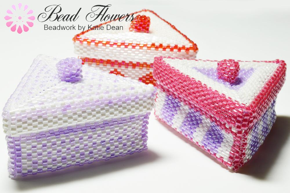 Beaded Boxes for Keys pattern, Katie Dean, Beadflowers