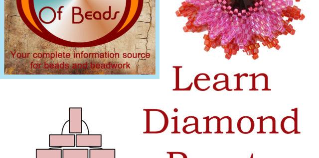 Diamond Peyote Stitch Technique Tutorial, Katie Dean, My World of Beads
