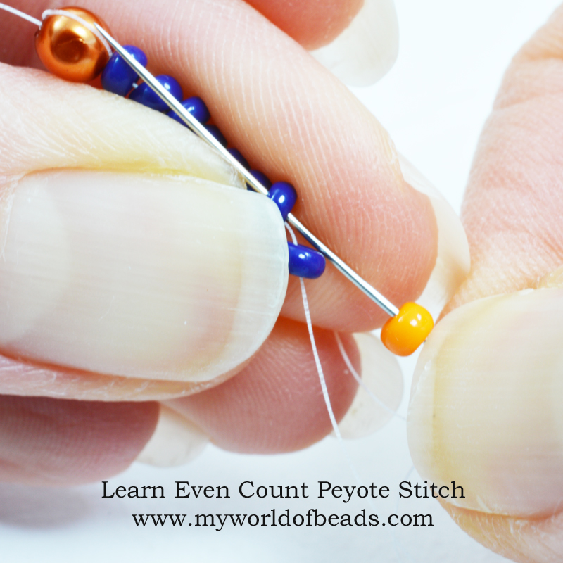 Learn even count Peyote stitch, Katie Dean, My World of Beads