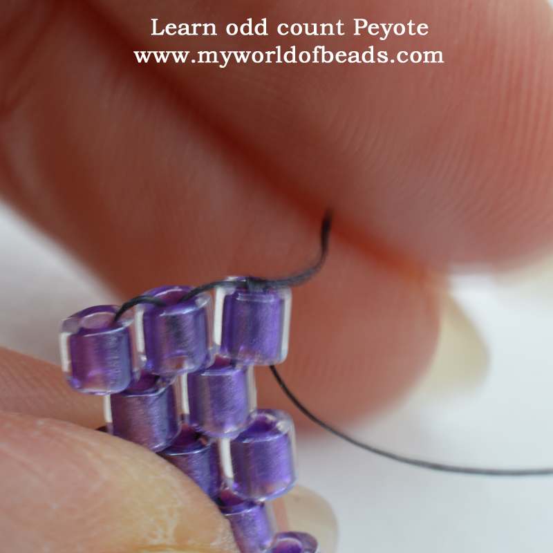 Learn odd count Peyote, Katie Dean, My World of Beads