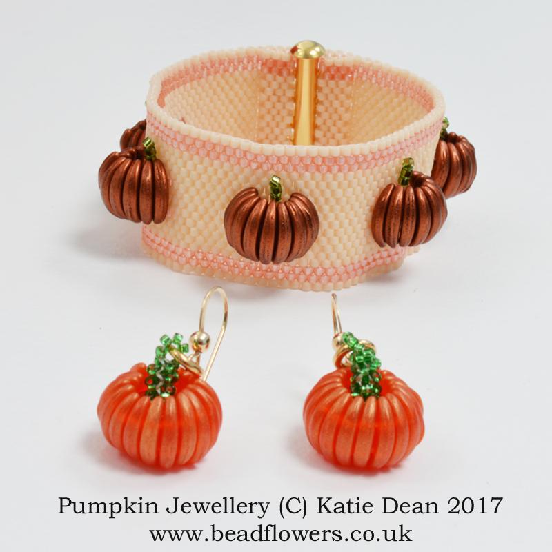 Pumpkin Jewellery Pattern, Katie Dean, Beadflowers