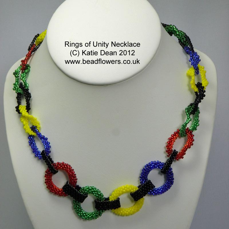 Rings of Unity Necklace Pattern, Katie Dean, Beadflowers